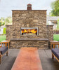 Longmire Linear Outdoor Wood Burning Fireplace