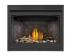 Napoleon x42 Fireplace shown with beach & Shore Fire Kits & Herringbone Panels