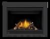 Napoleon X42 Gas Fireplace With Split Oak Logs & Porcelain Panels