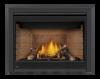 Napoleon X42 Gas Fireplace With Split Oak Logs & Sandstone Panels
