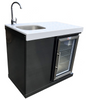 Mont Alpi Beverage Center - Sink and Fridge Unit - Black Stainless Steel (MASF)