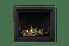 Altitude X42 Shown With Porcelain Panels, Oak Log Set & Black Finishing Trim