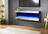 """Evolution Fires Empire 72"""" Wall Mounted Electric Fireplace"""