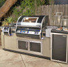 Fire Magic Echelon Black Diamond - 36-Inch Built-In Natural Gas Grill with Magic View Window, Rotisserie, & Digital Thermometer - H790I-8E1N-W