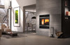 Valcourt Beaumont Wood Burning Fireplace With Nickel Overlap