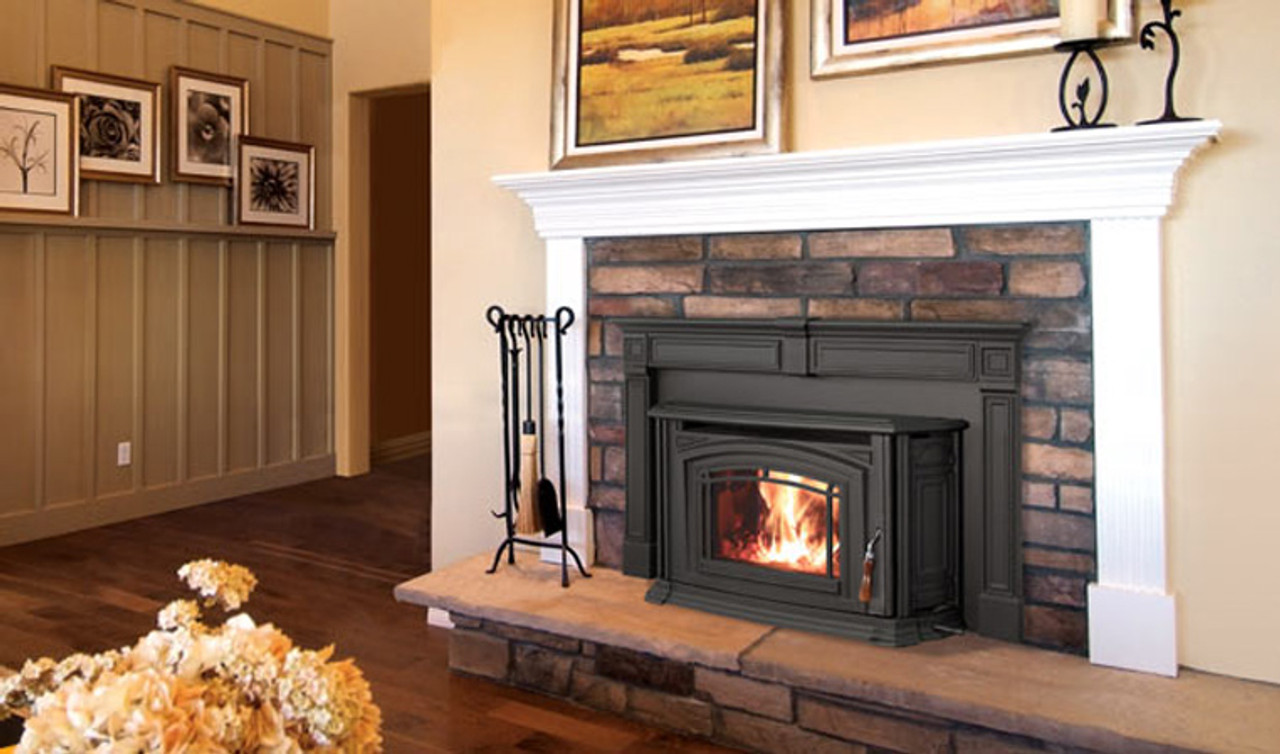 Enviro Boston 1200 Wood Burning Fireplace Insert Package Sale