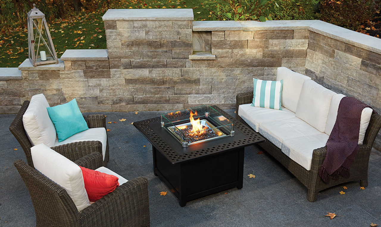 Patio Lawn Garden Outdoor Fireplaces Napoleon Gpfts48 Bz St Tropez Square Patioflame Table