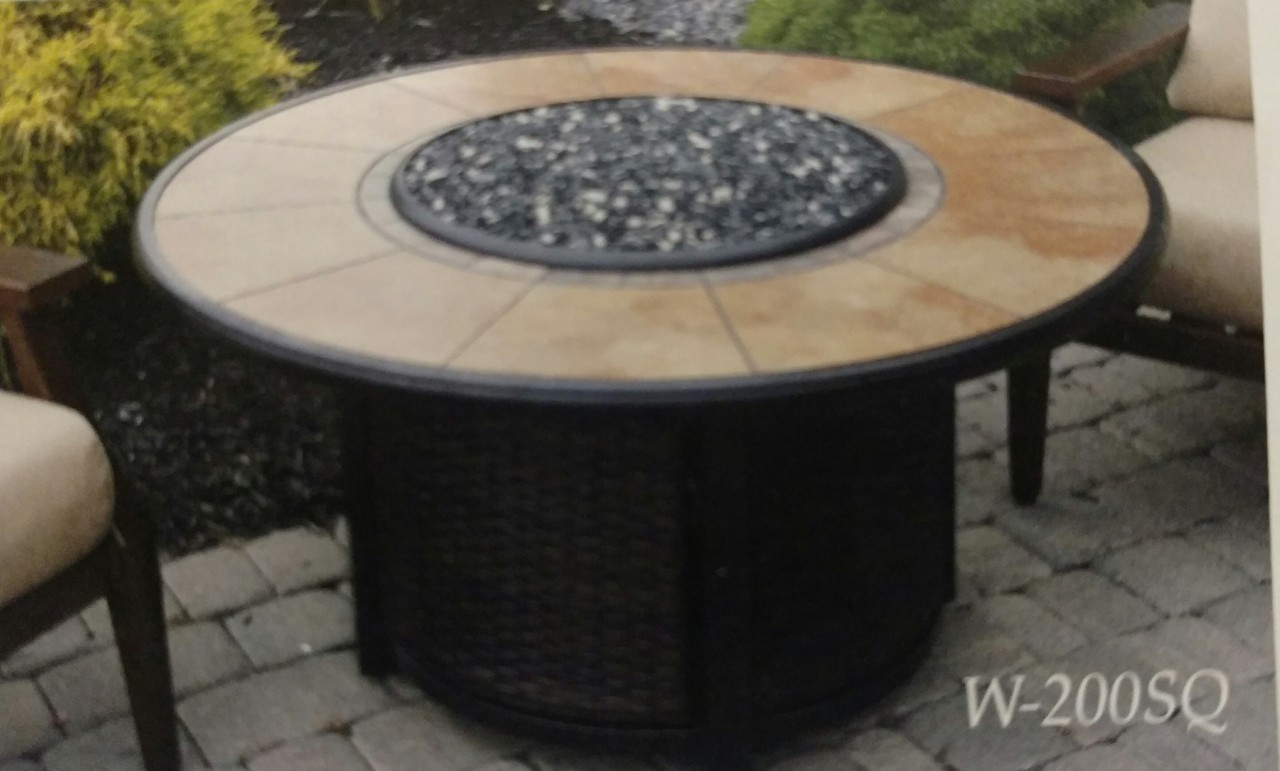 Image of: Calumet Round Propane Fire Table With Tile Top