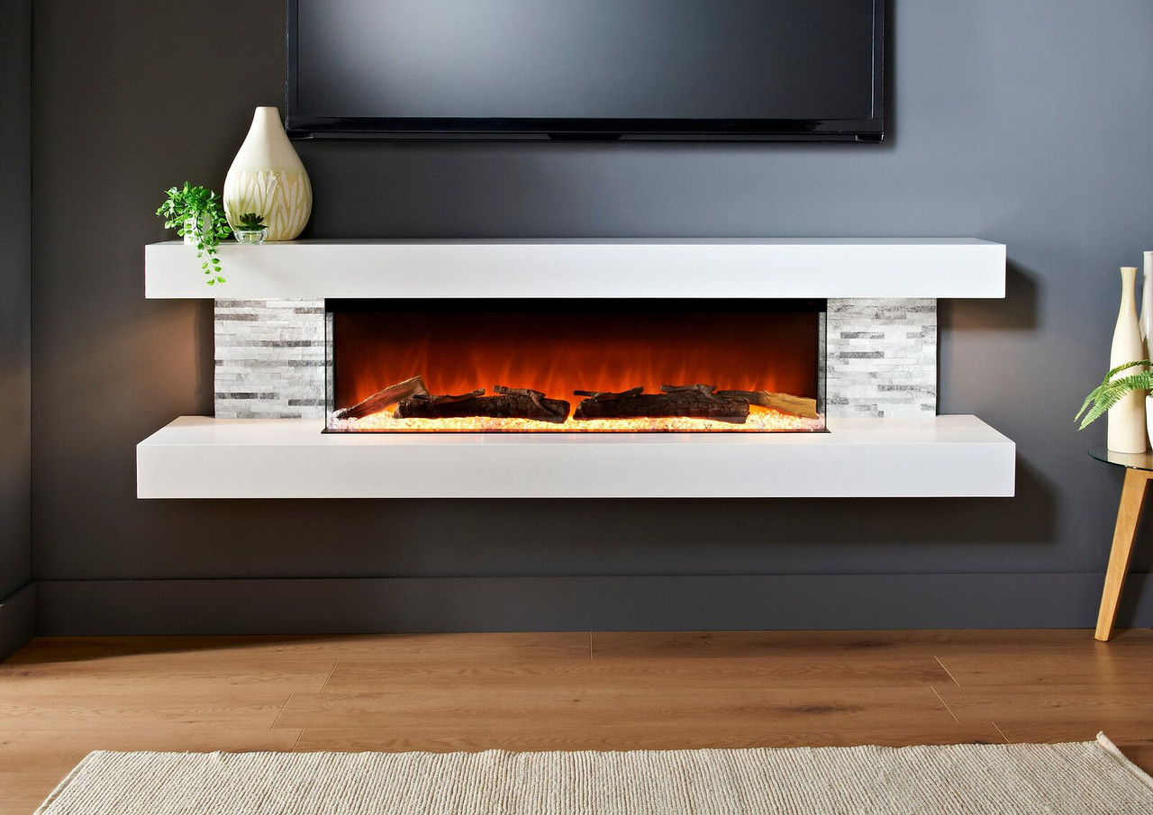 Vegas 72 Wall Mount Electric Fireplace