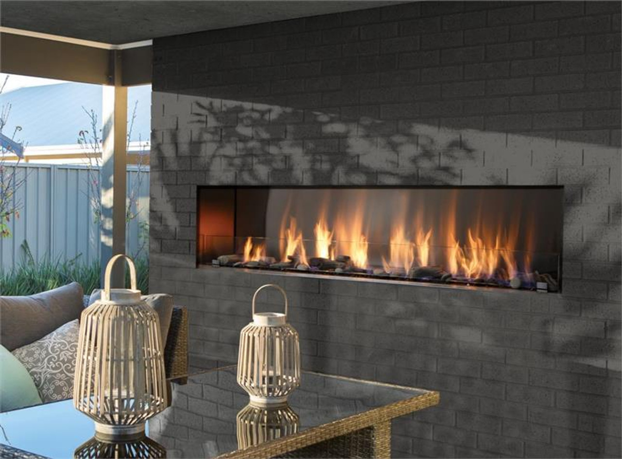 Barbara Jean Linear Outdoor Gas Fireplaces