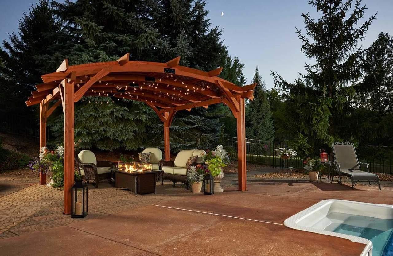 Outdoor Greatroom Company Sonoma 16 Redwood Pergola