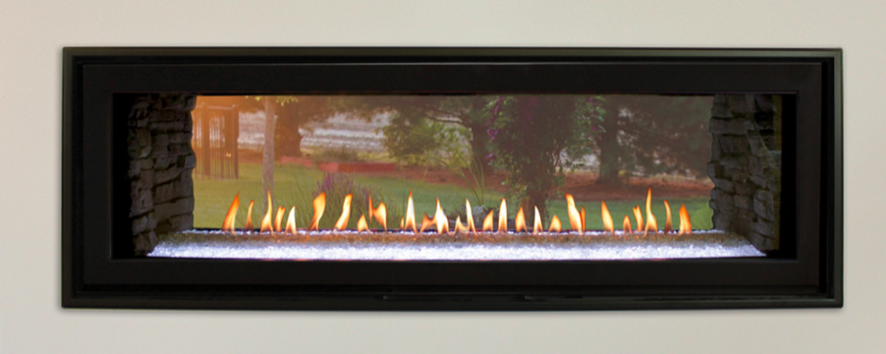 Boulevard 48 See Through Direct Vent Linear Gas Fireplace Indoor