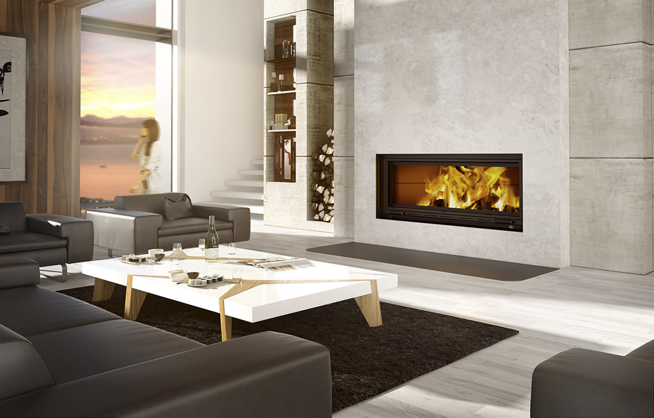 Valcourt Saint Laurent Linear Wood Burning Fireplace