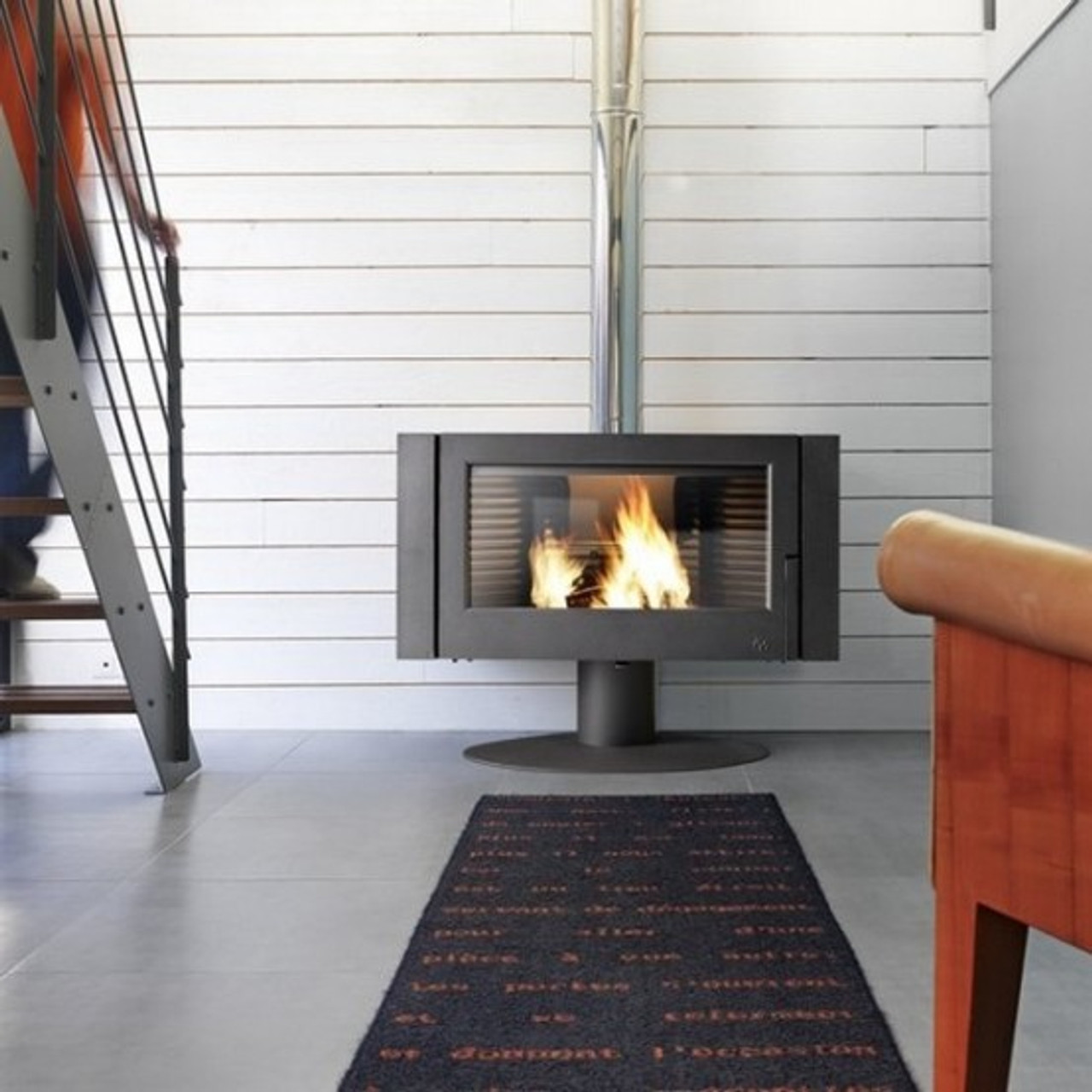 Invicta wood burning fireplace