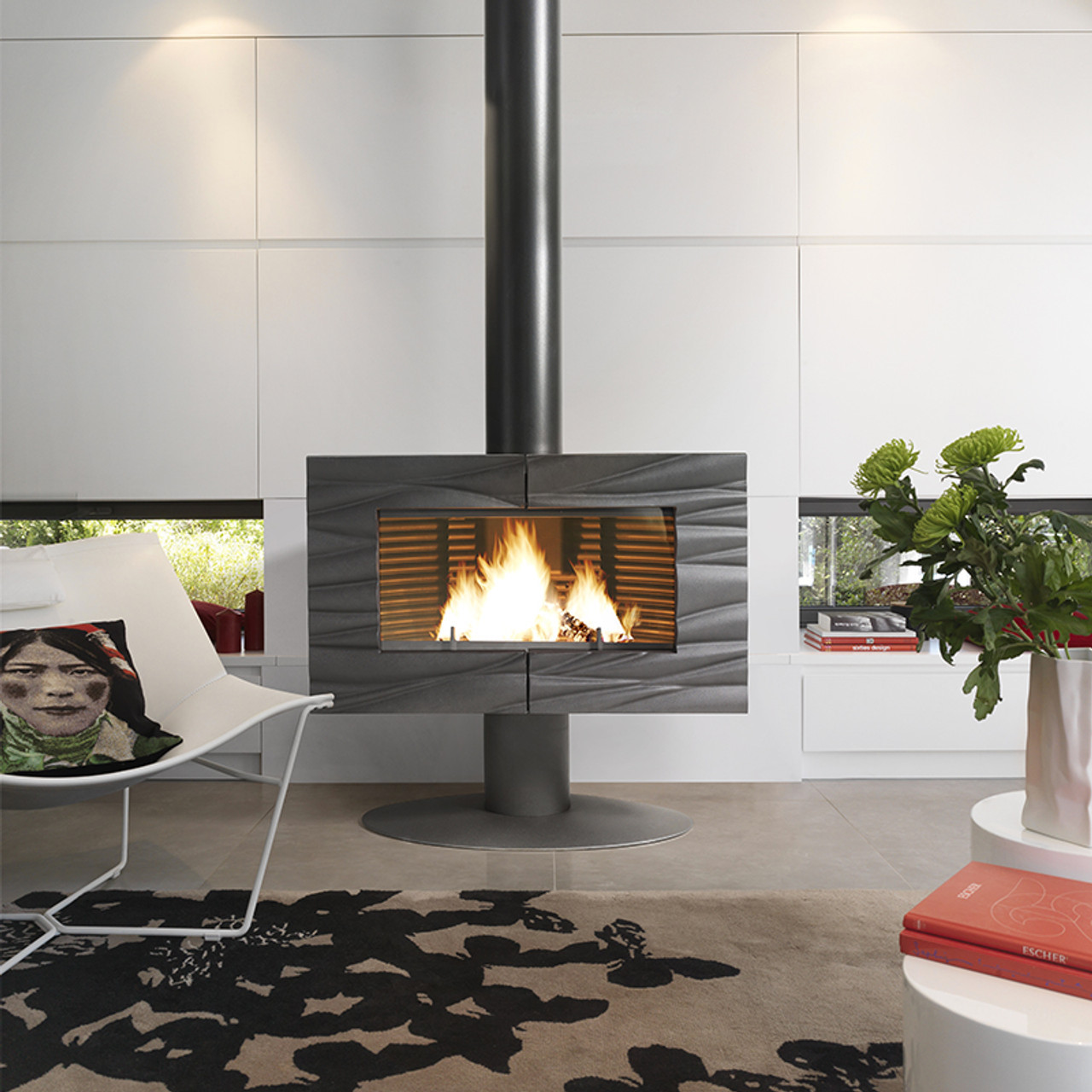 Invicta wood burning fireplace Gaya Feuille