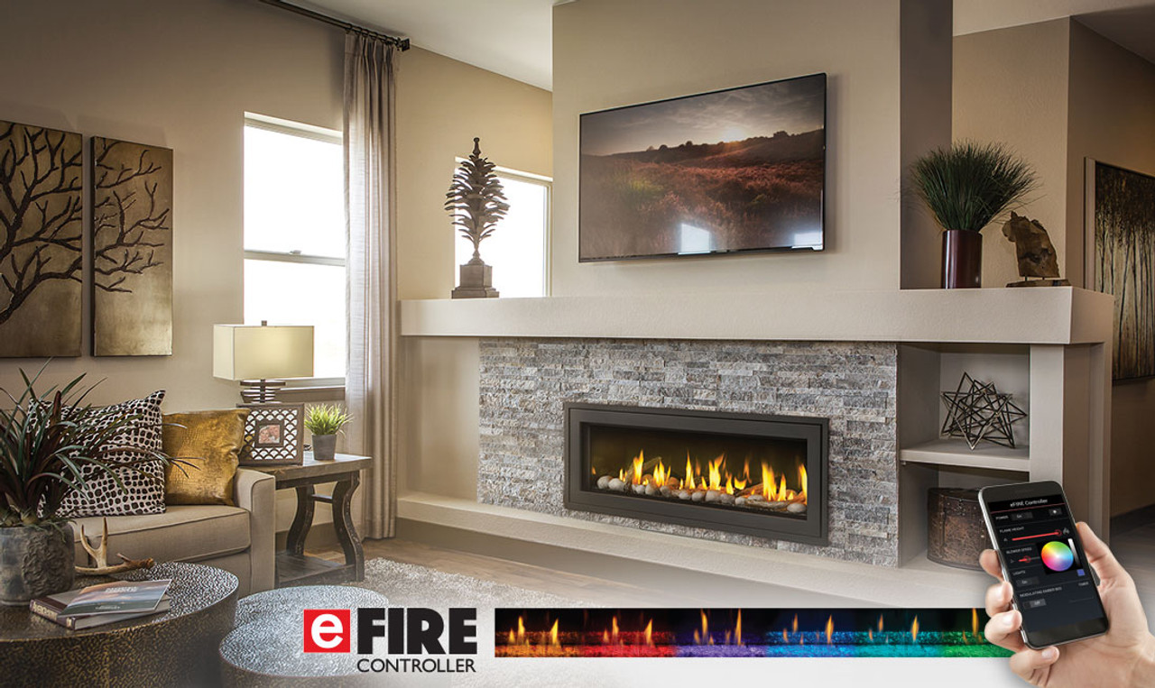 Linear Gas Fireplace >> Napoleon Vector 50 Linear Gas Fireplace Lv50