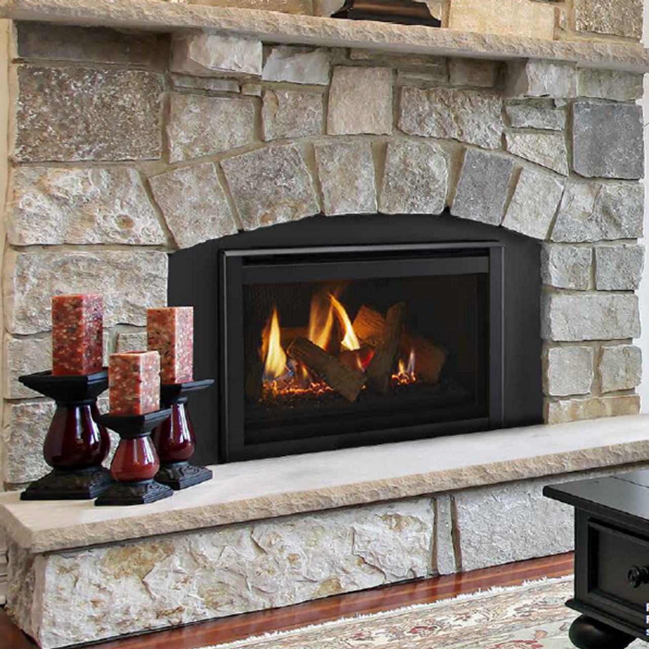 Majestic Ruby 25 Gas Fireplace Insert Package Deal