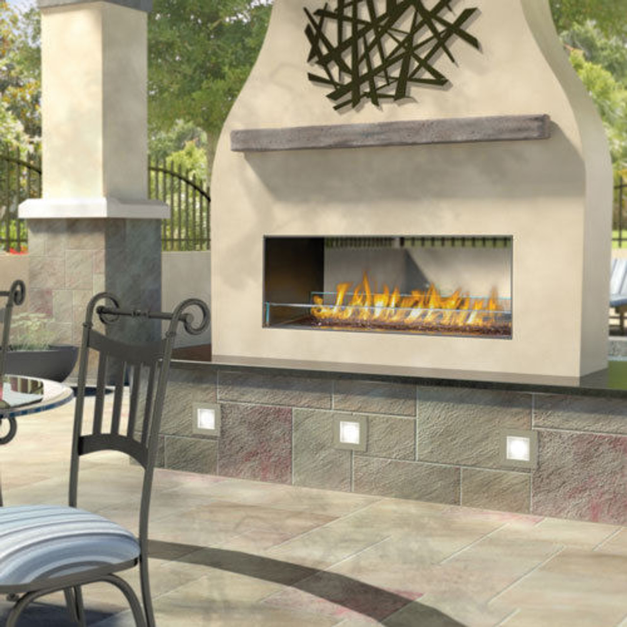 Napoleon Gss48 And Gss48st Outdoor Linear Gas Fireplaces Single