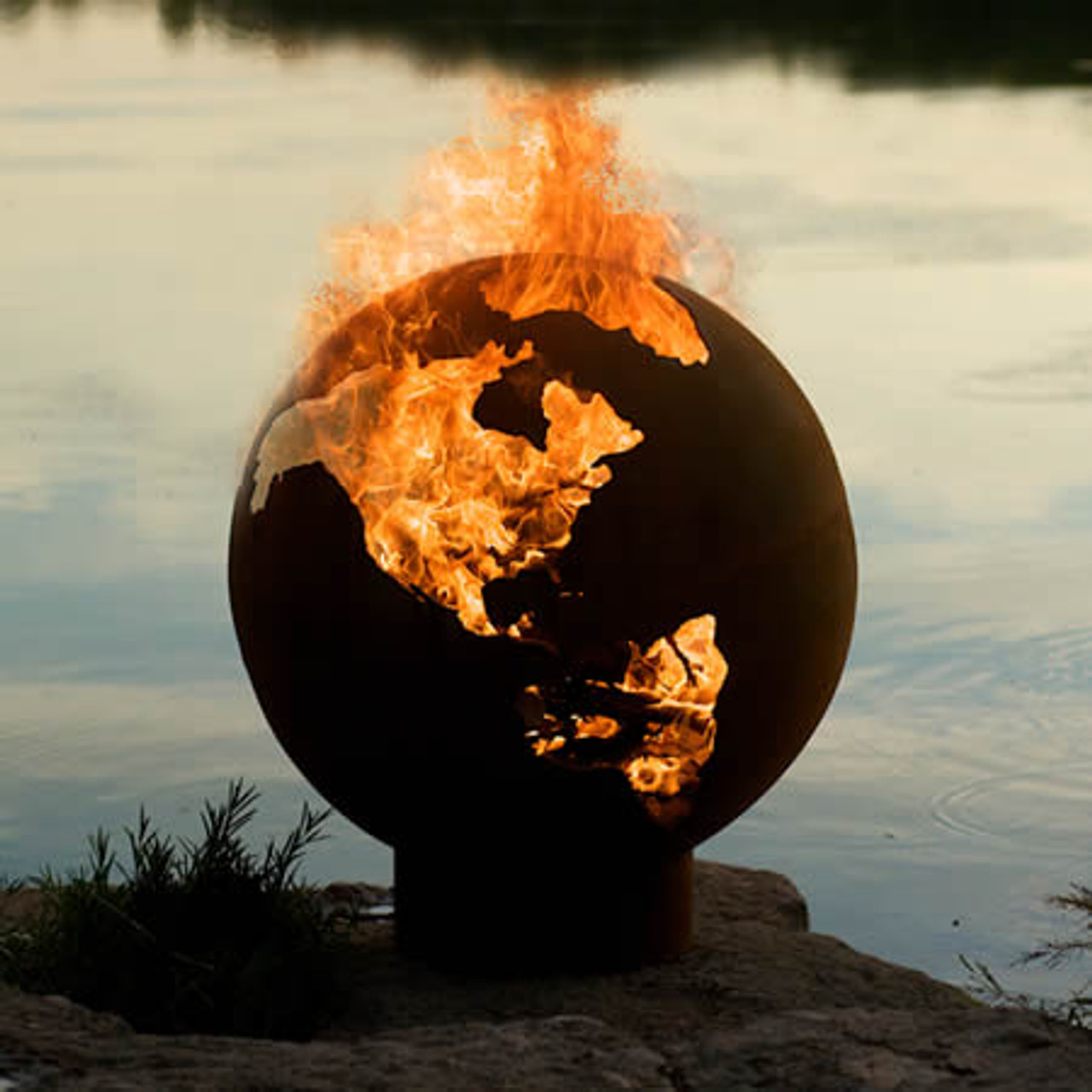 Image result for the globe on fire images