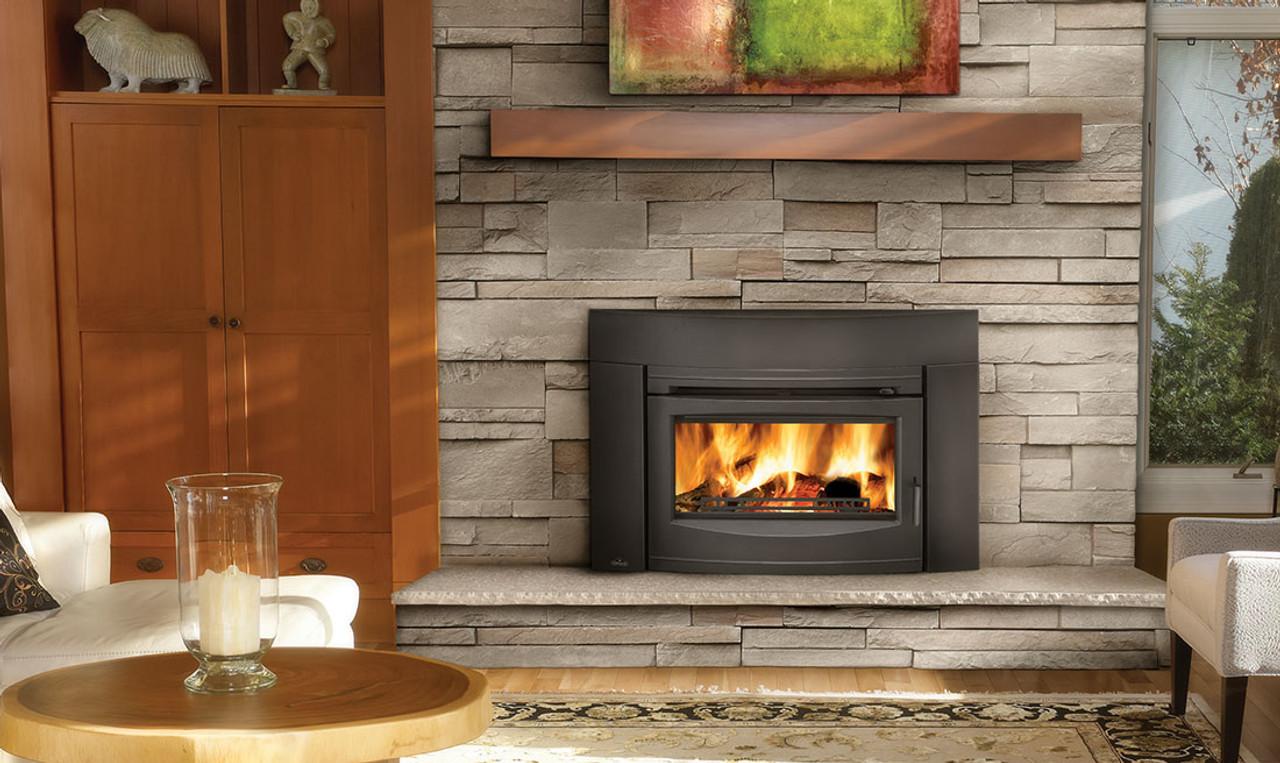 napoleon epi3c contemporary wood burning fireplace insert with s s rh fireplacesrus net