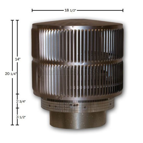 12'' Superior Round Chimney Cap with Louvered Screen