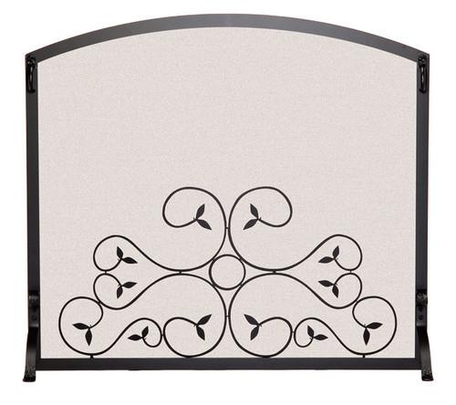 Pilgrim Applique Scroll Single Panel Fireplace Screen