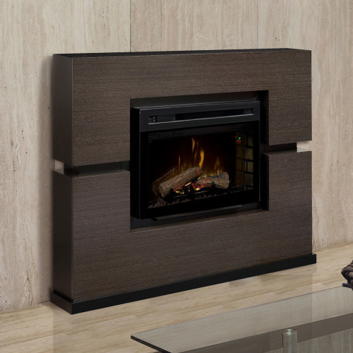 Dimplex Linwood Electric Fireplace Mantel Package Grey W/ Logs