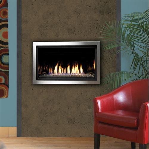 "Kingsman 36"" Linear Gas Fireplace W/ S.S Surround Trim"