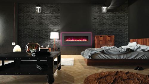 Sierra Flame WM-FML-48-5523-STL Linear Electric Fireplace