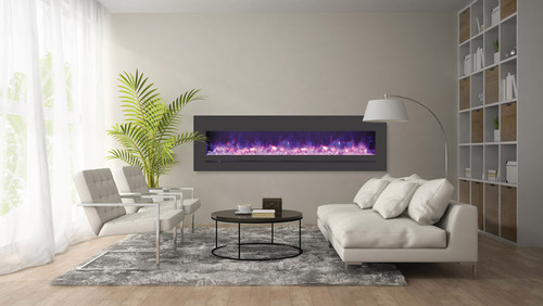 Sierra Flame WM-FML-72-7823-STL Linear Electric Fireplace