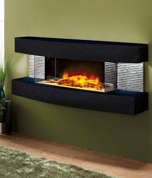 Fireplace World Texas Curve Electric Fireplace