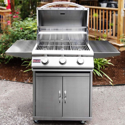 Blaze 25 Inch 3 Burner Grill On Cart
