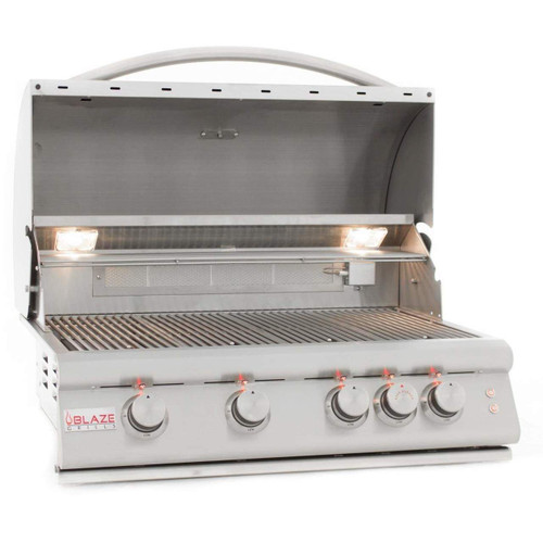 Blaze 4 Burner built in grill with lights