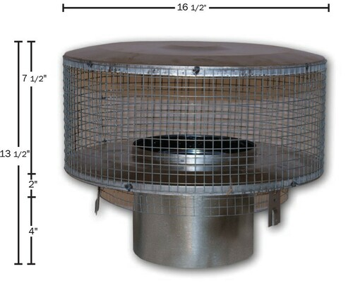 "Superior 8"" Round Chimney Cap"