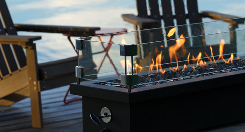 Barbara Jean Linear Outdoor Fire Stands