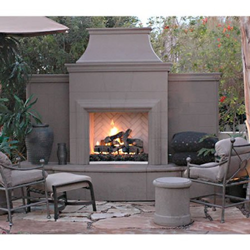 American Fyre Designs Grand Petite Cordova Outdoor Fireplace