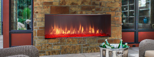 Lanai Outdoor Linear Gas Fireplace