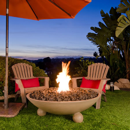 American Fyre Designs Versailles Fire Bowl with Ball Feet