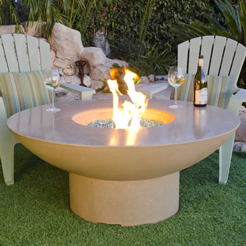 American Fyre Designs Lotus Firetable with Polished Top