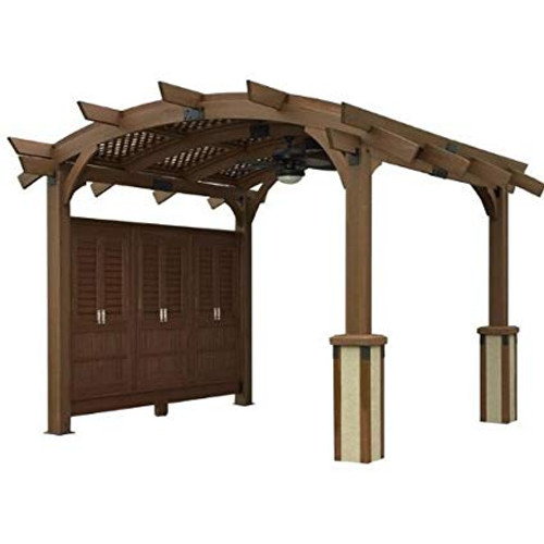 Outdoor Greatroom Company Sonoma 16 Pergola Shown With Optional Wall
