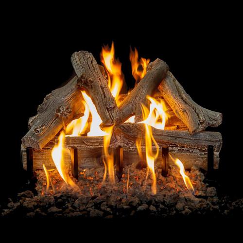 "Western Driftwood Vented Natural Gas 21"" Log Set"