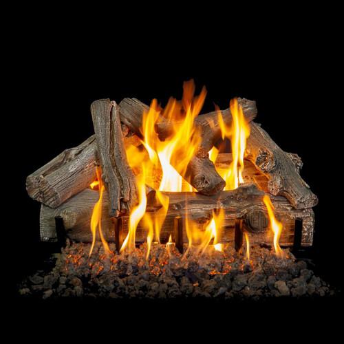 "Western Driftwood Vented Natural Gas 24"" Log Set"