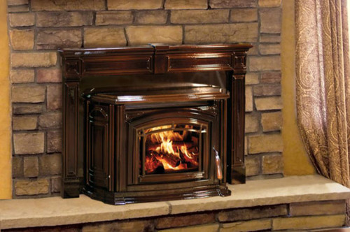 Enviro Boston 1700 Chestnut Enamel Wood Burning Fireplace Insert Chestnut Enamel
