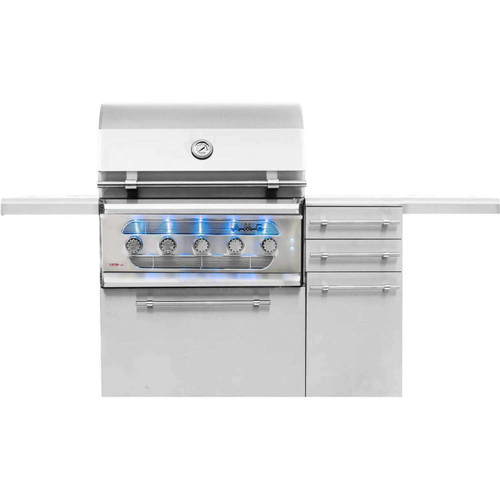 American Muscle Grill Freestanding Dual Fuel Wood / Charcoal / Gas Grill, 36-Inch