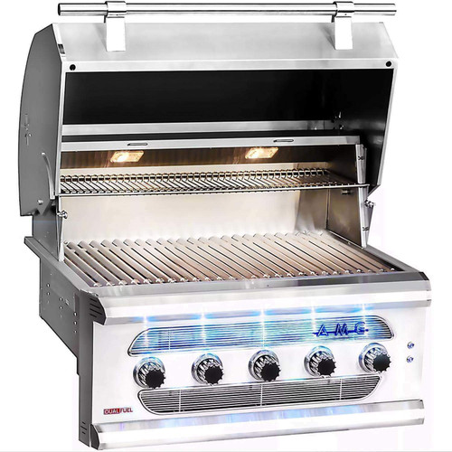 """American Muscle Grill Built-In Charcoal/Gas Grill, 36"""""""