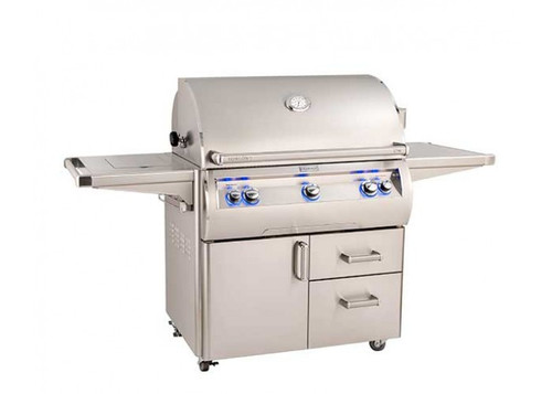 Fire Magic Echelon Diamond E790s 36-inch Portable Grill with Single Side Burner (Analog) ( E790s-8EA-62