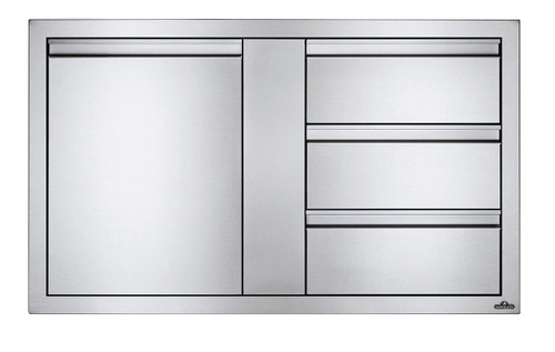 """Napoleon Built-In 42"""" X 24"""" Large Single Door & Triple Drawer Combo"""