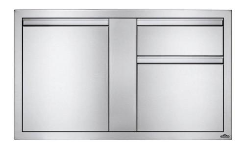 """Napoleon Built-In 42""""X 24"""" Large Single Door & Standard Drawer BI-4224-1D2DR"""