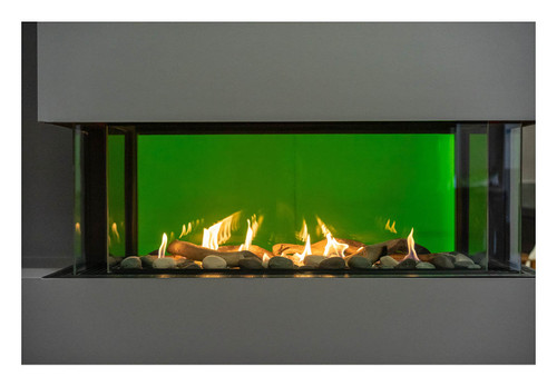 """Sierra Flame - Lyon – 48"""" Wide - 4 Sided See Through Gas Fireplace"""