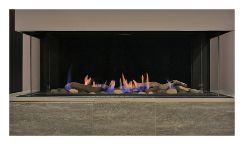 Sierra Flame - Toscana 3 Sided Peninsula Gas Fireplace